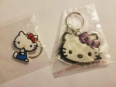 Hello Kitty Sanrio KeyChain Key Chain Bundle 2 New Silicone Cat Lot New Gift