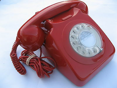 Original Gpo746 Telephone Red,immaculate,as New Condition.