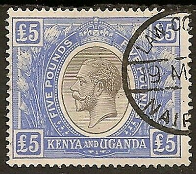 Kut1922 Kgv £5 Sg99 Law Courts Fiscal Cancel