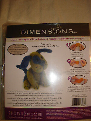 Dimensions Needle Felting Green Puppy Kit