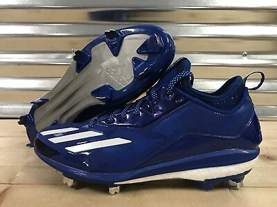 detailed look 6ef3d f18a8 Adidas Energy Boost Icon 2.0 Metal Baseball Cleats Royal Blue White SZ  (B72825)