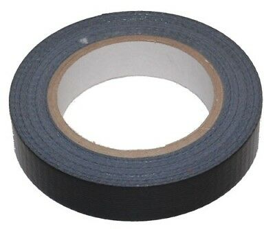 "2 x ROLLS BLACK WATERPROOF CLOTH/ DUCT/ GAFFA TAPE 25mm x 50m (1"" inch)"