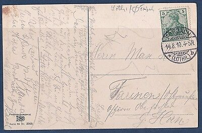 carte postale Forbach Moselle cachet Allemand 1910