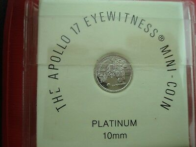 1973 APOLLO 17  Platinum Eyewitness Mini-Coin 10 mm **NO RESERVE**