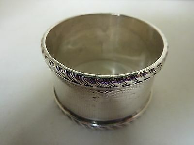 STERLING SILVER NAPKIN RING by WILLIAM HUTTON & SONS Ltd. 33.70gm.