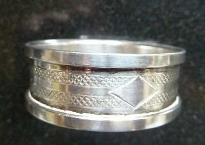 Solid Silver Napkin Ring By Hg&s 1935 Jubilee Hallmarks