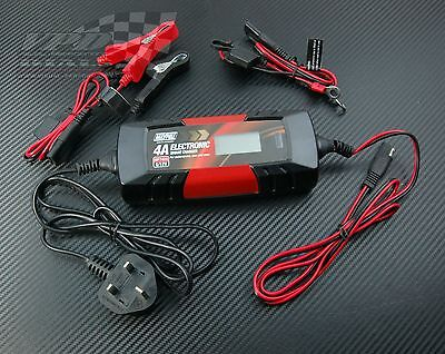 Battery car charger 6/12v Electronic automatic smart/trickle/pulse mode 4amp