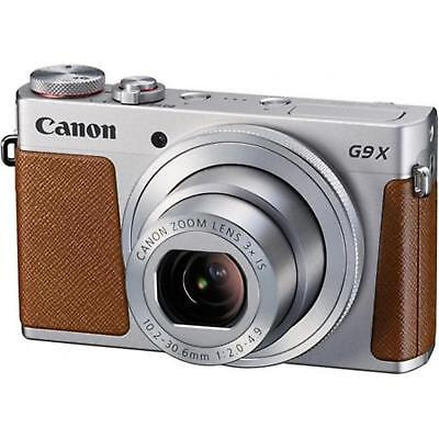 Canon Powershot G9X Mark II Digital Cameras Silver + Bundle Kit with Case