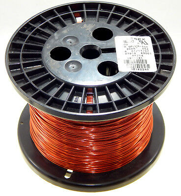 Essex H GP/MR-200 Magnet Wire 18 AWG Enameled Copper Estimate  5lb Est 1000 Feet