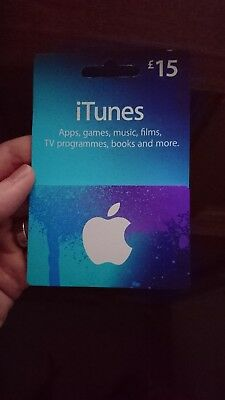 £15 itunes gift card - full credit remaining