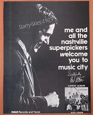Chet Atkins & The Nashville Superpickers 1973 Vintage Promo Ad