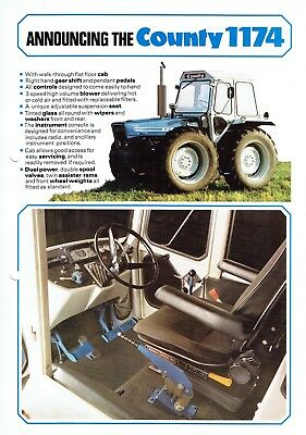 County Announcing the 1174 Tractors Leaflet Probably 1970-80's