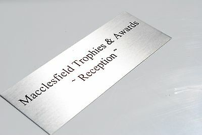 NAME PLATE Silver Various Sizes Customised PREMIUM Quality METAL PLAQUES