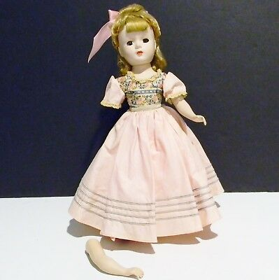 "Vintage Madame Alexander Doll Little Women ""Amy"" 14"" Composition Body 1952"