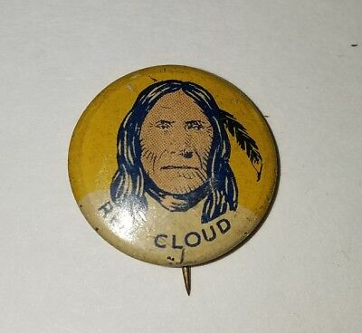 Red Cloud Indian Pin Vintage