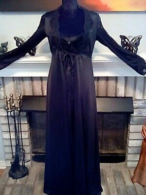 VINTAGE LILY OF FRANCE PEIGNOIR ROBE NIGHTGOWN Size small Free US Shipping