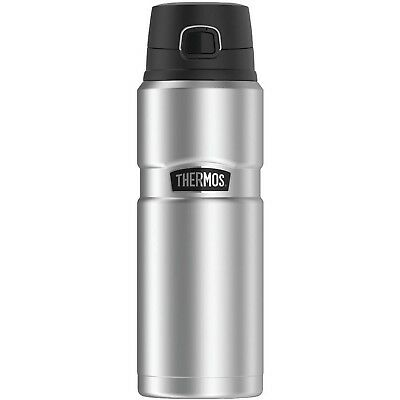 Thermos SK4000STTRI4 Stainless King Vacuum-Insulated Drink Bottle, 24 oz, Sil...
