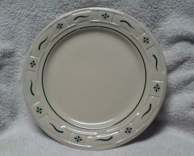 "Longaberger Pottery Woven Traditions Heritage Green luncheon 10"" Plate"