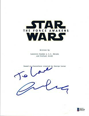 Jj Abrams Signed Autographed Star Wars The Force Awakens Movie