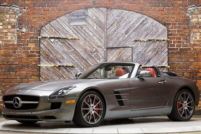 2012 Mercedes-Benz SLS AMG Roadster 12 Convertible 563hp V8 Forged Light Alloy Wheels B&O Stereo Red Brake Calipers
