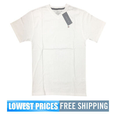 ba8e92993 TOMMY HILFIGER BOYS NWT White V Neck T Shirt Medium 12-14 Free Shipping -  $19.99 | PicClick