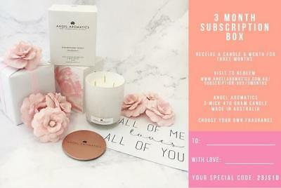 3 Month Candle Subscription Box