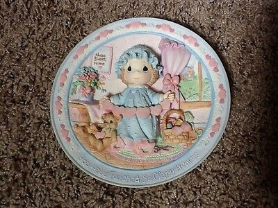 """1995 Precious Moments 3-D Plate """"you Have Touched So Many Hearts"""""""