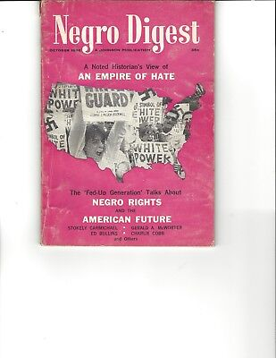 Negro Digest Oct 1966 An Empire of Hate and other articles