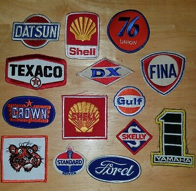 Vintage, collectible, Automobile,. Gas and oil sew on patches NOS