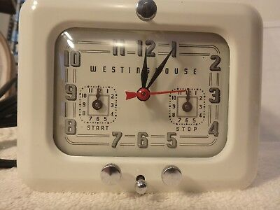 Vintage Westinghouse Kitchen Range Stove Timer Clock - TC-81 Clean and bright.