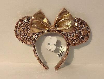 Disney Parks Exclusive Rose Gold Headband Minnie Mouse Ears