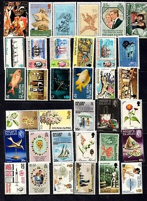 Pitcairn Islands - 132 different stamps, nice colourful collection (27M)