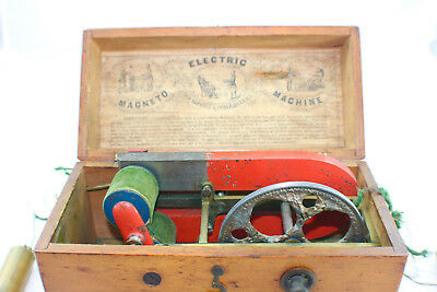 Antique Victorian  DAVIS & KIDDERS Medicine Electric Shock Machine Box c. 1854