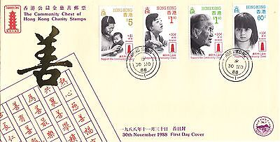 "H. K.1988, ""chest Of Charity"" Set On Special China Philatelic Association Fdc"