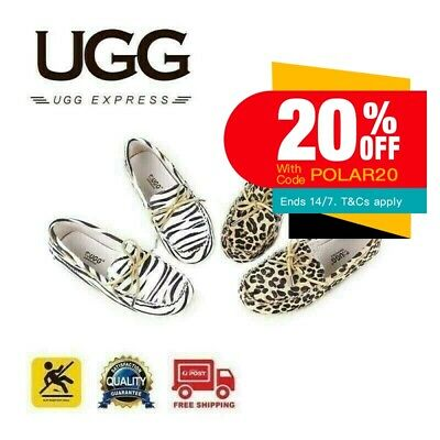 UGG AP Ladies rubber sole summer moccasin