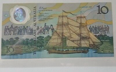 Unc Commemorative 10.00  Note With Folder And Envelope