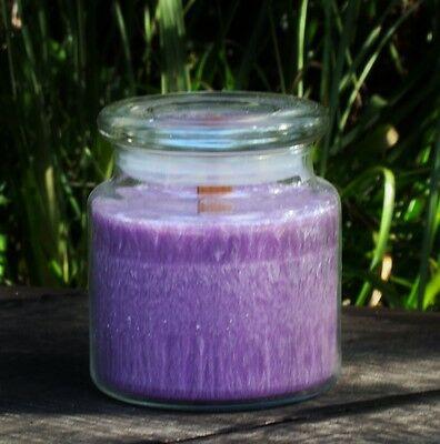 Large 100hr OPIUM Scented Wooden Wick OUTDOORS JAR CANDLE with GLASS SNUFFER