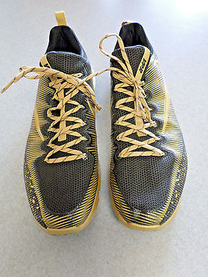 "RARE Sample Nike ""Vapor Speed Turf"" Black/Gold, Low Football Shoes. Men's 16"