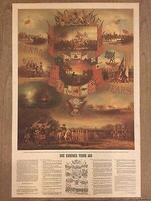 "Boy Scout Jamboree 1981 Print of  ""One Hundred Years Ago"" by WH Wilcox"