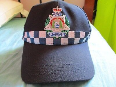Rare - Early Version - Obsolete Diced Ball Cap - Western Australia Police Badge