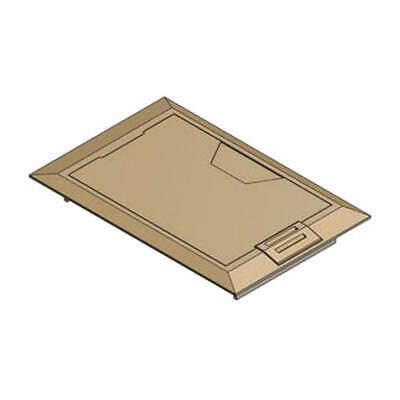 STEEL CITY Floor Box Cover,8-3/8 in.,Brass, 664-CST-M-BRS