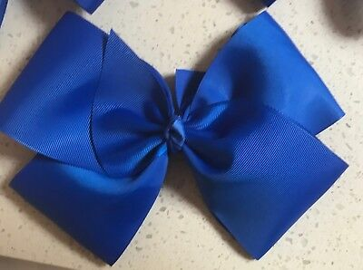 8 Inch BIG  bow Royal blue (JoJo Inspired) Immediate Post From melb