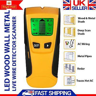 Wall Stud Center Finder Metal Ac Live Wire Detector 3In1 Wood Copper Cable Led