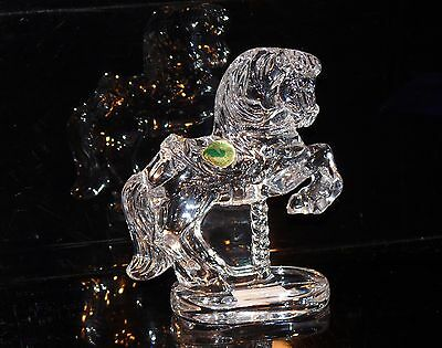 WATERFORD IRELAND CRYSTAL HUGE W.S CAROUSEL HORSE 1997 + BOX 1125 gms