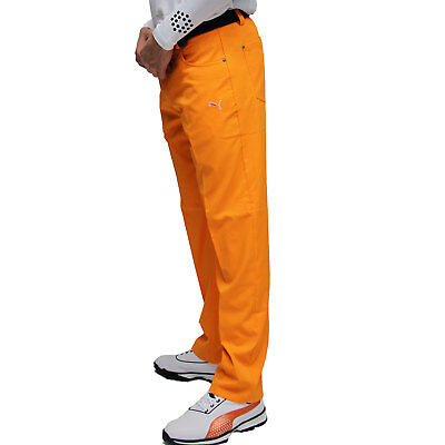PUMA Golf Men's Golfhose Tech 5 Pkt Pant, vibrant orange, dryCell Funktionsfaser