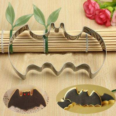 New Batman Bat Biscuit Cake Cookie Mold Cutter Super Hero Mould Metal Boy Party