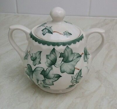 bhs country vine SUGAR BOWL Ivy Leaf Pattern Excellent Condition