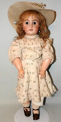 Antique French Jumeau Doll Jumeau Stamped Body & Shoes Pull Strings Mama Papa