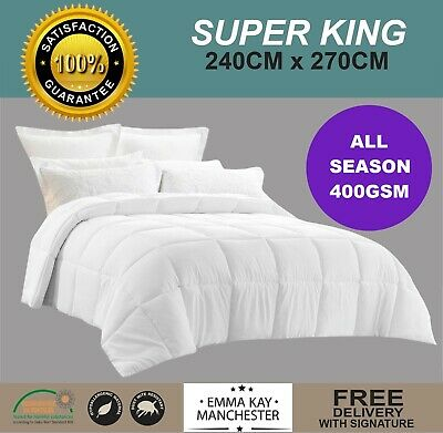 Microfibre Winter Weight **super King** 700Gsm Quilt, Duvet, Doona- Oeko Tek