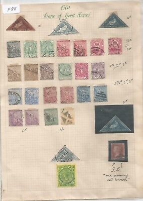 Cape Of Good Hope , South Africa , Used Lot Including 3 Cape Triangles, Mixed Co